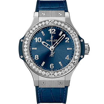 Hublot Big Bang Steel Blue Diamonds 38мм